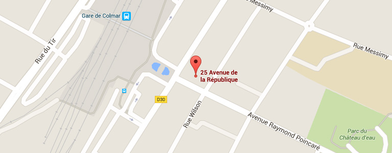 Plan pour situer l'auto-école larger à Colmar