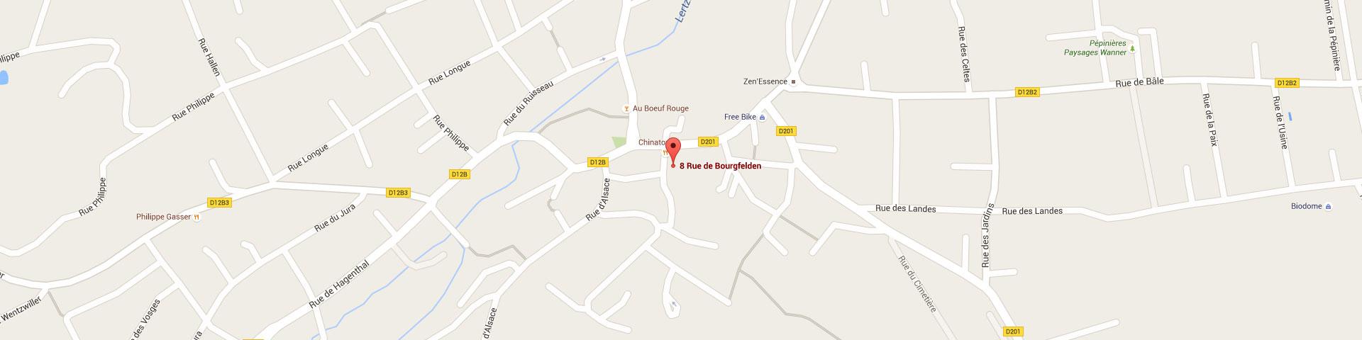Plan pour géolocaliser l'auto-école larger dans Hégenheim
