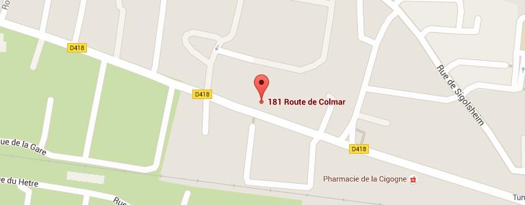 Plan pour situer l'auto-école larger à Ingersheim