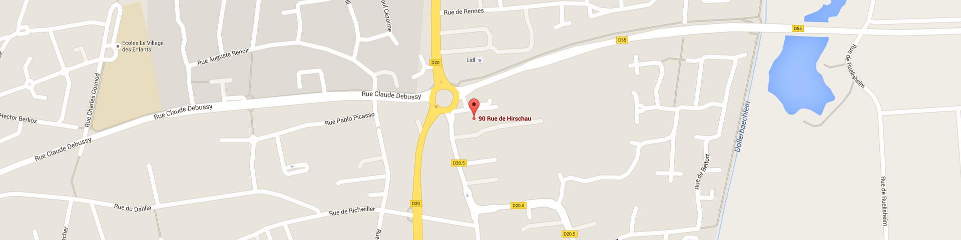 Plan pour géolocaliser l'auto-école larger dans Kingersheim