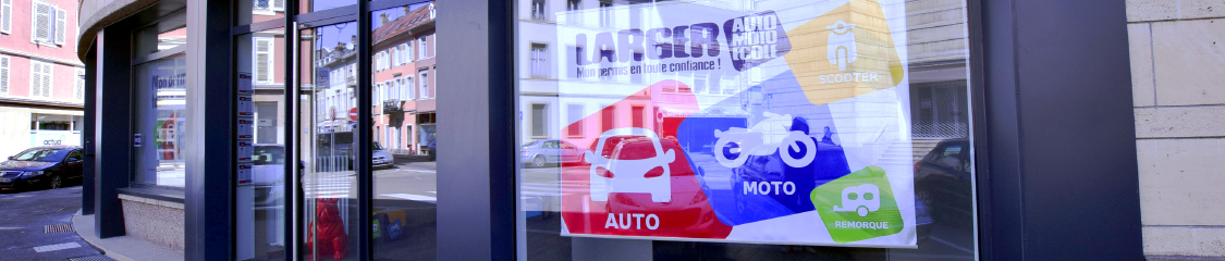 Photo de l'auto ecole du groupe larger à Mulhouse centre ville