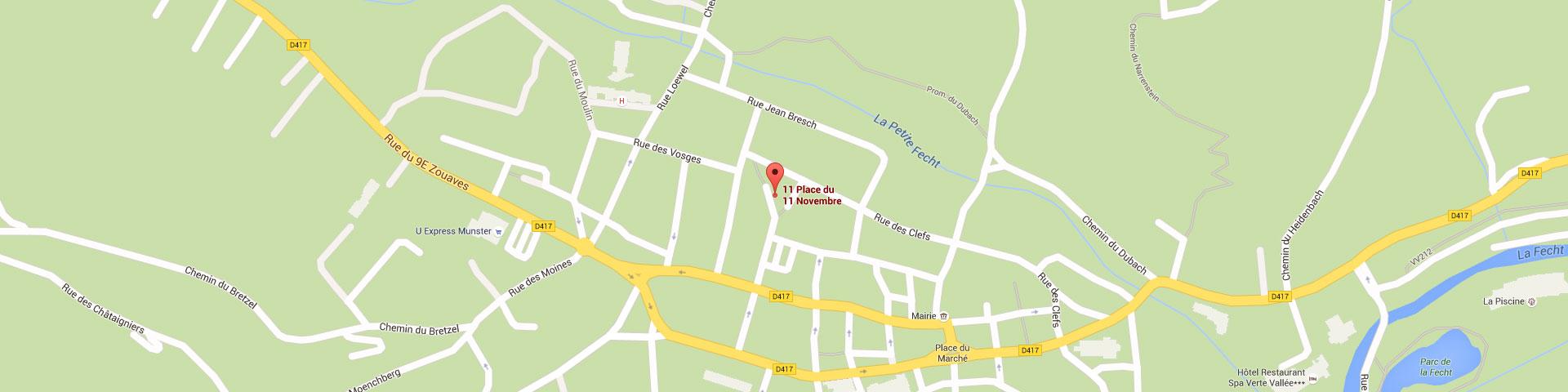 Plan pour géolocaliser l'auto-école larger dans Munster
