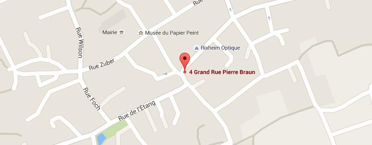 Plan pour situer l'auto-école larger à Rixheim