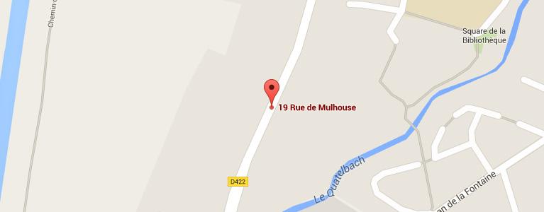 Plan pour situer l'auto-école larger à Sausheim