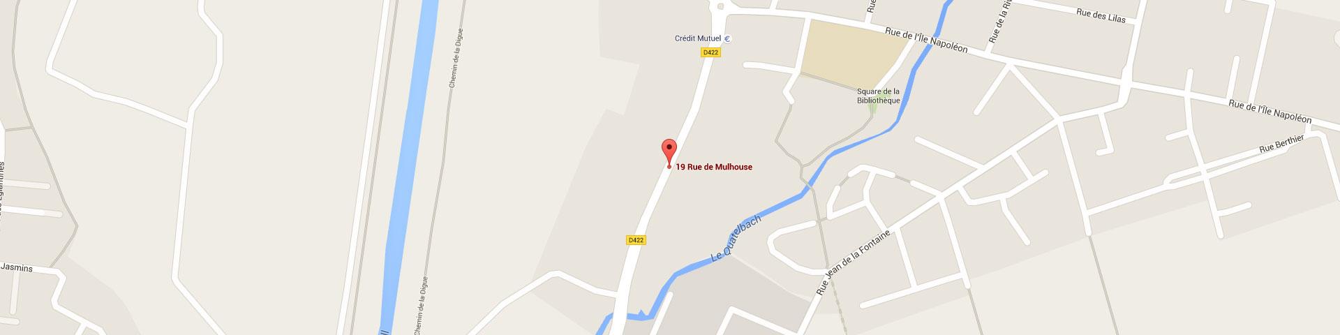 Plan pour géolocaliser l'auto-école larger dans Sausheim