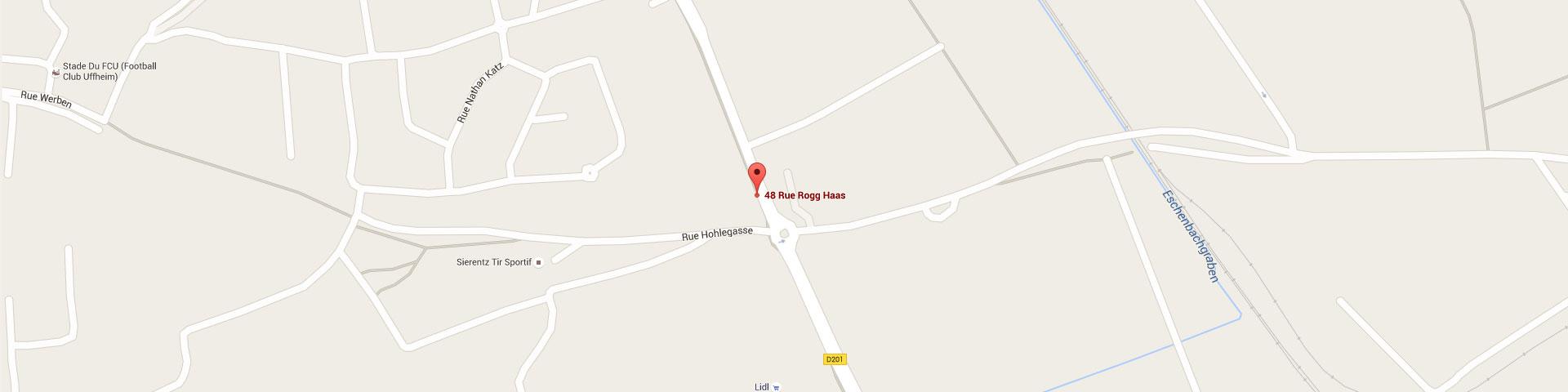 Plan pour géolocaliser l'auto-école larger dans Sierrentz