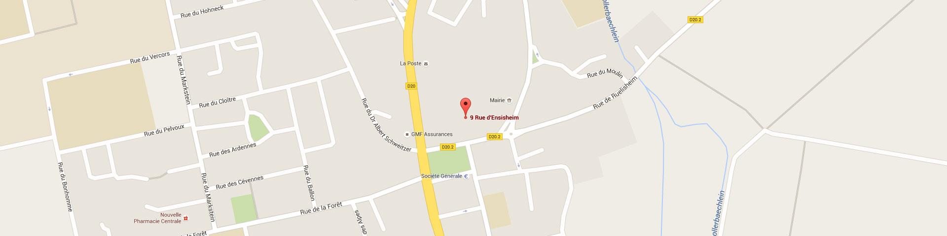 Plan pour géolocaliser l'auto-école larger dans Wittenheim