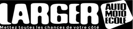 Logo blanc des Auto ecoles Larger