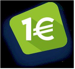 picto illustrant le prêt permis à un euro par jour